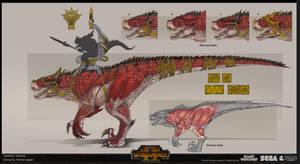 Lizardmen Grymloq Concept Art by rineart
