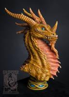 Bronze dragon by Sikipeune