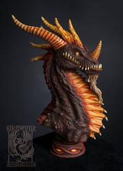 Black dragon by Sikipeune