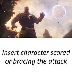 Thanos attacks (Blank) by artdog22