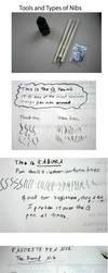 Types of Manga Pen Nibs by yatoujisatsukix