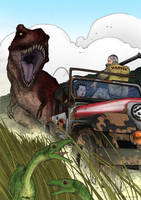 Tyrannosaur Chase - Colored by March90
