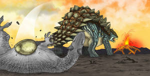 Indominus VS Ankylosaurus by March90