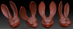 Bunny Head by Key-Feathers