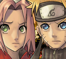 Naruto and Sakura by Shunshuu-Tsunami