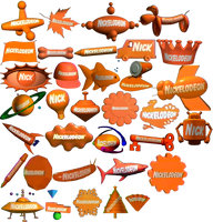 Nickelodeon 3D logos (1993-2010) by lukesamsthesecond
