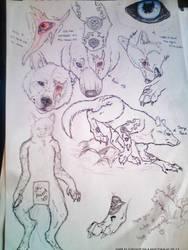 My fursona Stray made for me by Crazywolfs. by Strayokami