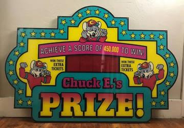 chuck e cheese skeeball sign by 25ederri
