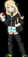 Pokemon - Young Cynthia by LucarioShirona