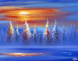 Winter scenery by Khushiart