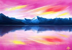 Landscape artwork by Khushiart