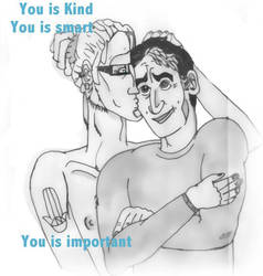 You is Kind, You is Smart, you is important by wonderfulbad