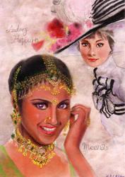 Meena and Audrey by Emushi