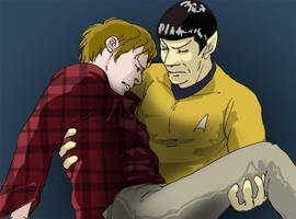 Spock saved his Captain by Emushi