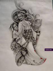 Obsessed tattoo design by MarinaAlex