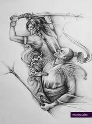 Fighting demons by MarinaAlex