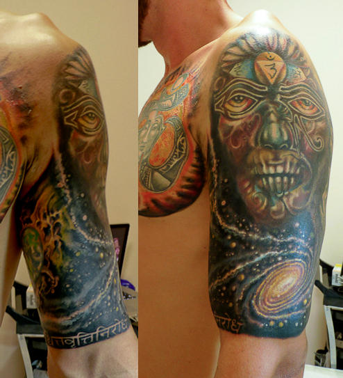 Continuation Of The Yogi Half Sleevechest Tattoo By Marinaalex On