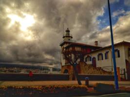 Faro tormenta, puerto deportivo by pedromorillas