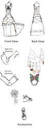 WIP: Dress Design by AmeftoDrawer