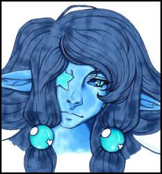 fancy blue portrait by Electrosa