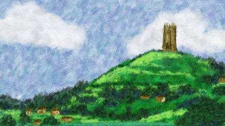 Glastonbury Tor by pepsirat