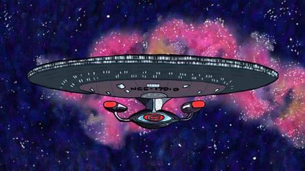 The USS Enterprise NCC 1701 D by pepsirat