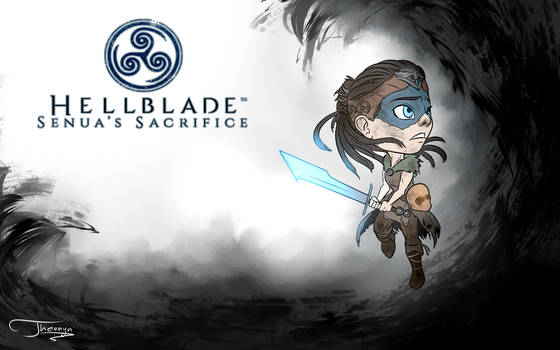 Hellblade: Senua's Sacrifice chibi wallpaper by Theonyn