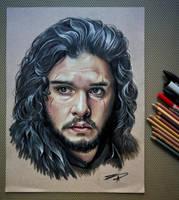 Jon Snow (Kit Harington) Portrait by eksdeth