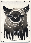 ACEO Ink Owl 03 by Myrntai