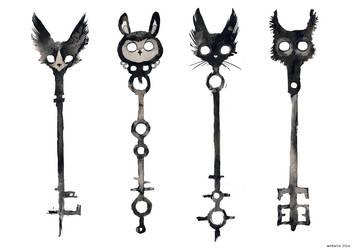 Ink keys by Myrntai
