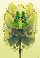 Leafy owl by Myrntai