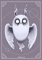 Ghost Owl by Myrntai