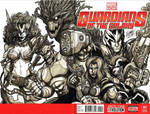 blank cover sketch: GUARDIANS OF THE GALAXY. by curseoftheradio