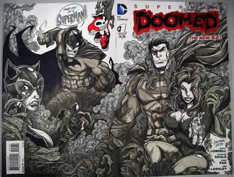 blank cover sketch: SUPERMAN DOOMED. by curseoftheradio