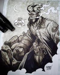 hellboy sketch. by curseoftheradio