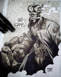hellboy sketch. by curseoftheradio