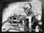 inkwashed ghost rider. by curseoftheradio
