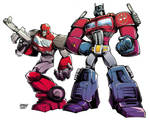 TRANSFORMERS: optimus and ironhide. by curseoftheradio