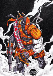 DEATHSTROKE commission. by curseoftheradio