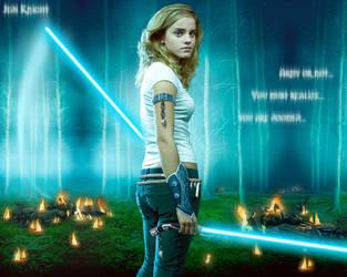 Emma Watson Jedi knight by Rhanubis