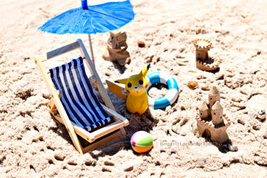 Let's go to the beach, Pikachu! by Bimmi1111