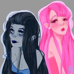 Marceline and Princess Bubblegum by MonHaa