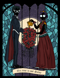 This Rose is Our Destiny by blkdiamondart