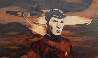 In memory of Leonard Nimoy (Marquetry) by Andulino