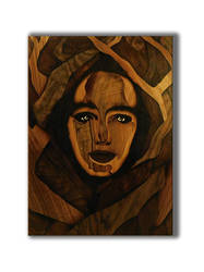Face of nature (marquetry) by Andulino