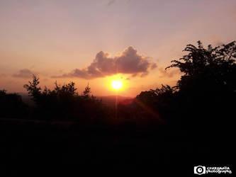 Sun set at Trinco by CrazyNalin