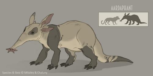Species Sheet - The Aardaphant by Chaluny