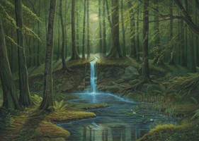Secret Pond by aldafea