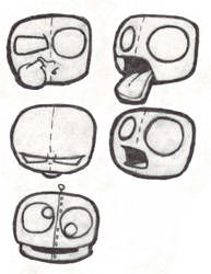 Cartoon Faces by Donku