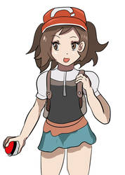 Pokemon trainer girl Let's Go by Diusym